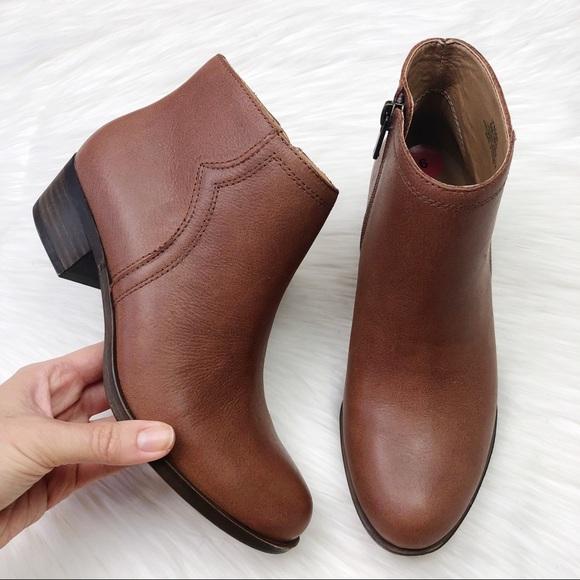 Cognac Leather Balexa Booties | Poshmark